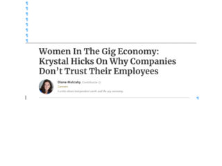 Tweet: Women in the Gig Economy on Remote-Employees