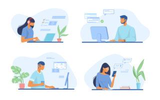 employee enjoying the benefits of working remotely