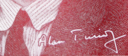 Alan Turing signature on banknote released in June Pride Month 2021