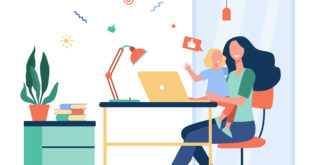 working parents enjoying the benefits of working from home